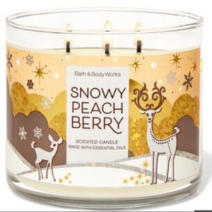 Snowy peach berry 3 wick candle